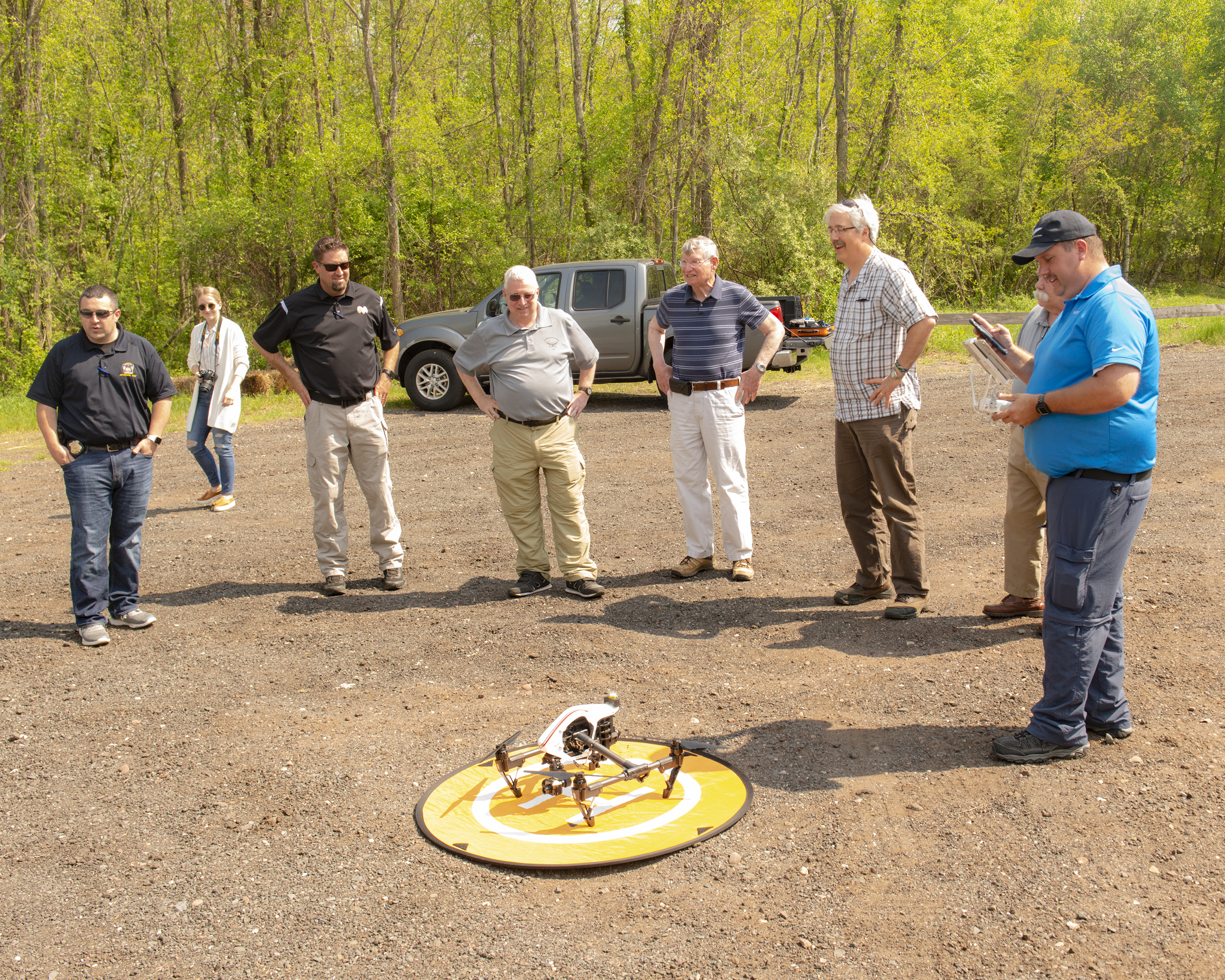 Manchester Emergency Management during their on-site drone training.